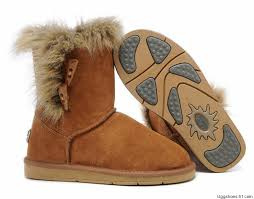 UGG Boots Sale Online - Fox Fur Short - Chestnut - 5685 Shoes Sale