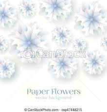 Paper Flower Background Paper Flower Background Vector Illustration