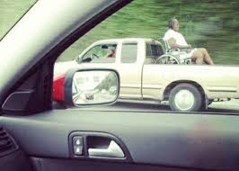 Grandma You Can Ride In The Back - Pickup Truck and Wheelchair ...