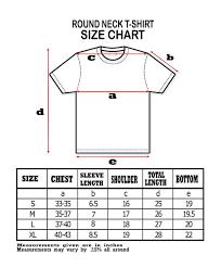 Round Neck T Shirt Size Chart Moooph Womens Round Neck Half Sleeves Black Printed T