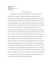 rr logan szewczyk egl reading response who am i as a  rr 3 logan szewczyk egl 02 reading response 3 who am i as a writer in the past i have written a lot like in high school i have written research papers