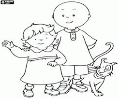Small Picture Caillou coloring pages printable games