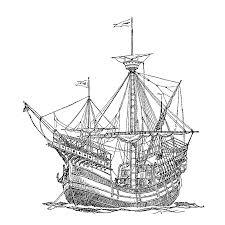 Zeilschepen Van Vroeger Kleurplaten Kleurplatenpaginanl