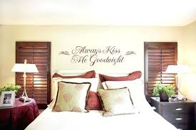 bedroom wall decoration ideas. Master Bedroom Wall Decor Ideas Beige S And  Always Kiss Me Goodnight Sticker Romantic Bedroom Wall Decoration Ideas D