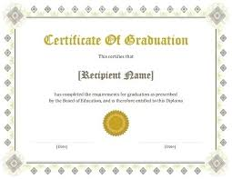 Printable Graduation Certificates College Diploma Certificate