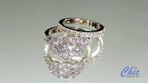 14k Gold Cubic Zirconia Wedding Rings