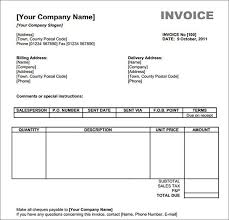 Free Sample Invoices Free Invoice Template