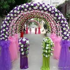2018 diy wedding decoration props simulation silk flowers rose wedding arch wedding artificial flower road led flowers from ok767 5 82 dhgate com