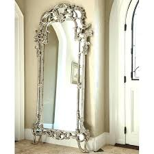 silver floor mirror. Ornate Floor Mirror Silver The Boutique Decorative Veil P
