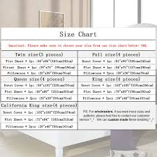 Flat Sheet Size Chart Us 17 84 15 Off Unikea Bed Sheet Set Brushed Microfiber Bedding 3 Or 4 Piece Flat Sheet Fitted Sheet And Pillowcase Twin Full Queen King Cal Kin In