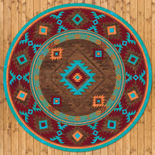 8ft diameter 93in whiskey river turquoise round area rug number 203566