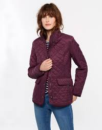 Newdale Burgundy Quilted Jacket | Joules UK & Joules UK NEWDALE Womens Quilted Jacket Burgundy Adamdwight.com