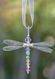 dragonfly rainbow suncatcher necklace gold