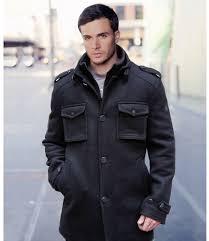 top men s slim fit wool pea coat