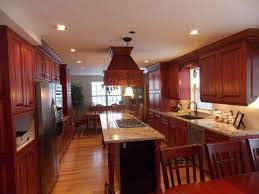 Kitchens With Laminate Flooring Kitchens With Cherry Cabinets Beige Tile Pattern Ceramis Laminate