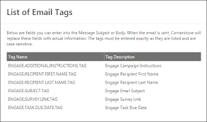 Email Reminder Engage Invitation And Reminder Email Tags
