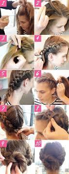 braid bun hairstyle prom hairstyles tutorials