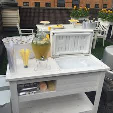 Wine Carts Cabinets Rustic Wooden Cooler Table Bar Cart Wine Bar With Mini