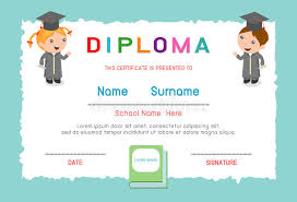 certificates of completion for kids certificates kindergarten and elementary preschool kids diploma