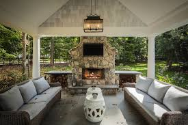 z plus architects decks patios covered patio carriage lantern outdoor fireplace