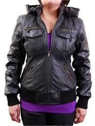 women s black biker leather jacket hoo