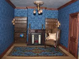 the study with just the bookcases carpet and chair