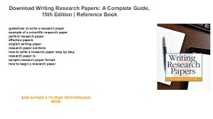guidelines in writing a research paper writing research papers a complete guide 15th edition reference book guidelines to