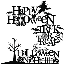 The happy halloween svg file is perfect for a number of things including signs, mugs and tote bags. Halloween Titles Svg Scrapbook Title Svg Cutting Files Crow Svg Cut File Halloween Cute Files For Cricut Cute Cut Files Free Svgs