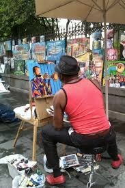 the art in jackson square need to find my photo of our fav artist we need more sidewalk painters live art in san luis obispo if we want to be a