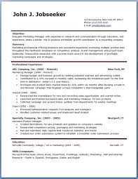 Free Download Resume Template Word Document Resume Templates Free