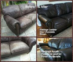 leather dye for couches i dyed my year old sofa using in chocolate brown the came leather dye