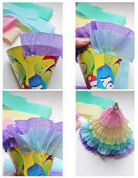 diy rainbow ruffle party hats for my little pony parties via icingdesigns blo