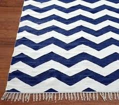 navy blue and white chevron rug cream