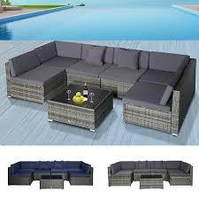 piece wicker seating set patio deck