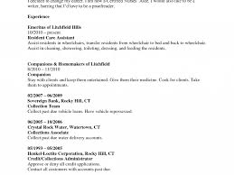 20 Certified Nursing Assistant Resume Example Cna Resume