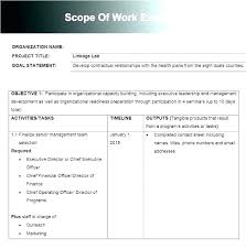 Simple Statement Of Work Template Free Statement Of Work Template