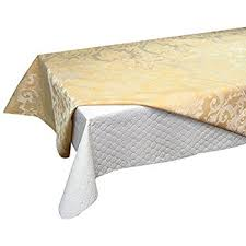 Amazon.com: Quilted Heavy Duty Table Pad Protector With Flannel ... & HOTEL QLTD Peva Table Pad, 52 x 108