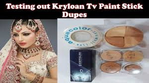 testing out kryolan tv paint stick dupes review affordable makeup in stan under 1300 rs
