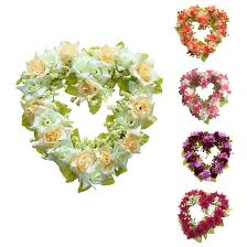 image is loading heart shaped artificial flower wreath door decoration hanging