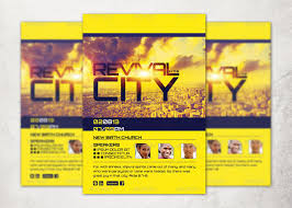 revival flyers templates revival in the city church flyer template inspiks market