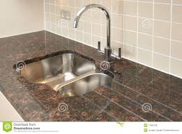 Granite Kitchen Sink Kitchen Sink With Granite Worktop Royalty Free Stock Photos