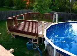 above ground pools and deck designs pool pictures decks ladders gro