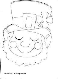 Shamrock Coloring Page Saint Patrick Coloring Page Awesome Shamrock Coloring Sheets St