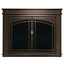 smlf modern fireplace doors glass contemporary brushed nickel and screens view decor furniture design