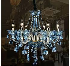blue crystal chandeliers 5 light beaded chandelier