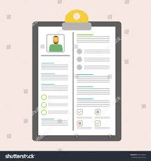 Writting A Modern Resume Concept Document Resume Writing Reading Resume Stock Vector Royalty