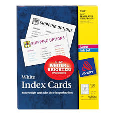 Avery 5388 Index Cards 3 X 5 White Uncoated 150 Pack