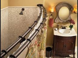 Double Curtain Rod Double Shower Curtain Rod Ideas YouTube