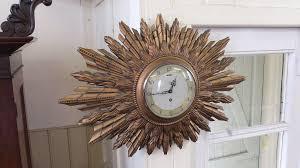 antique sunburst clock