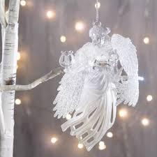 <b>Украшение Crystal Deco Ангел</b> с лирой 11.4cm Silver 150735 ...
